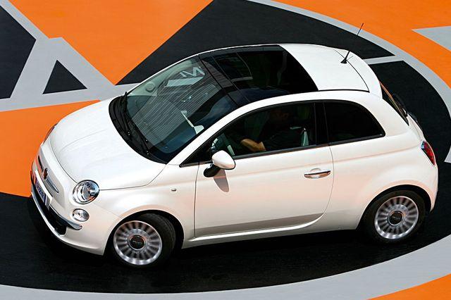 Fiat 500 Lounge von oben