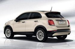 Fiat 500x in weiß von hinten