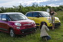 Fotoshooting Miss Austria mit Fiat 500 und Fiat 500L