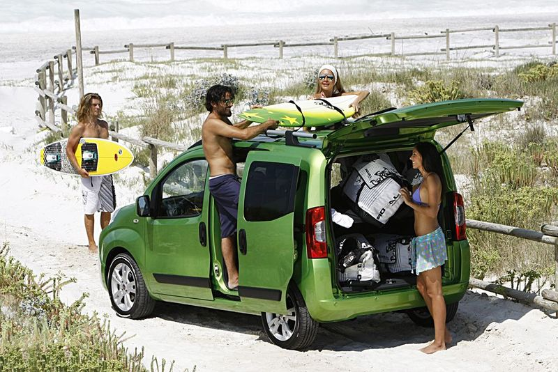 Fiat Qubo als Strandfahrzeuge